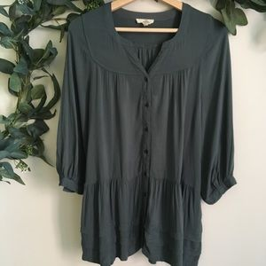 Anthropologie Entro Long Sleeve Flowy Top